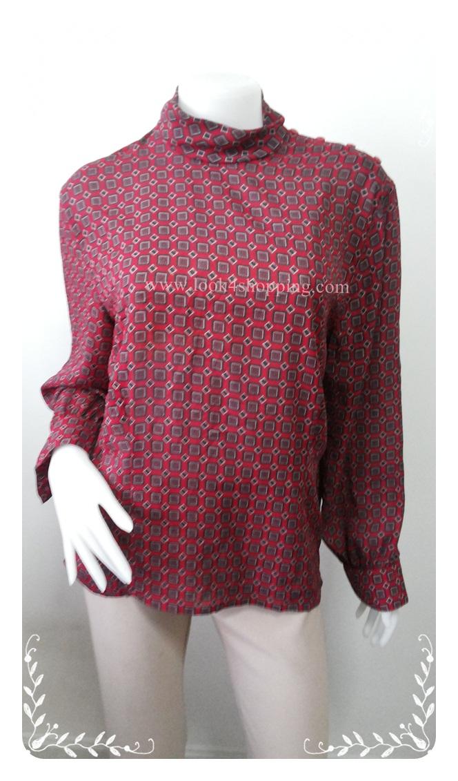 """jp2765-เสื้อแฟชั่น สวย ๆ สีแดง JONES WEAR """"อก 42 นิ้ว"""""""