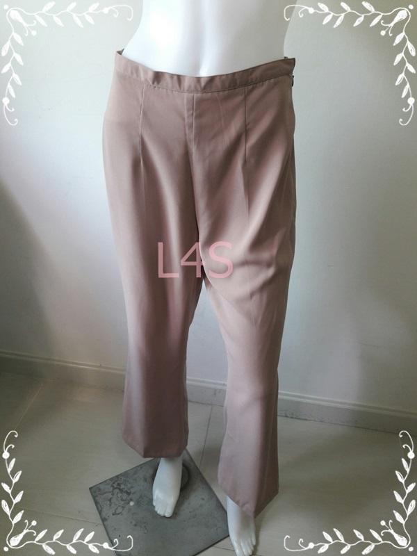 TR0064-กางเกงผ้า สีกากี เอว 28 นิ้ว