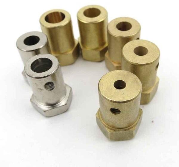 ข้อต่อมอเตอร์หกเหลี่ยม Flange Coupling motor ยึดล้อรถ 4mm