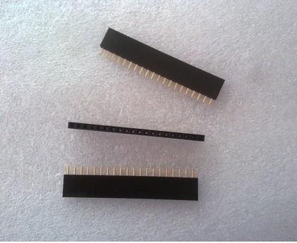 1X20 Pin 20P Single Row Female Header 2.54mm pitch straight จำนวน 1 ชิ้น