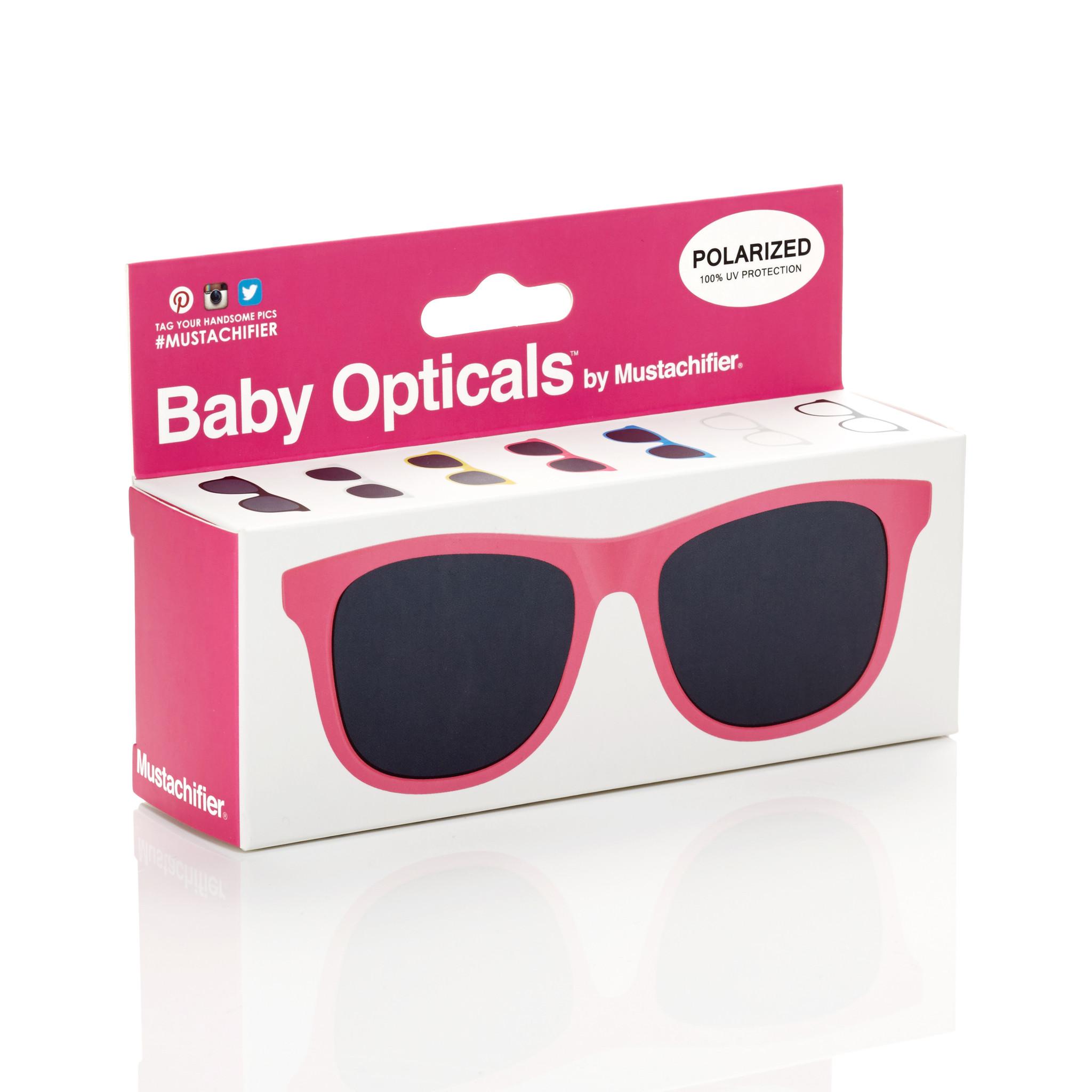 Mustachifier Pink Sunglasses Age 0-2 แว่นกันแดดเด็กสีชมพู