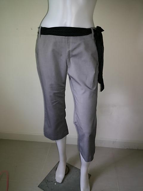 BNB1104-กางเกงผ้า สีเทา แบรนด์เนม FQ&L เอว 30 นิ้ว