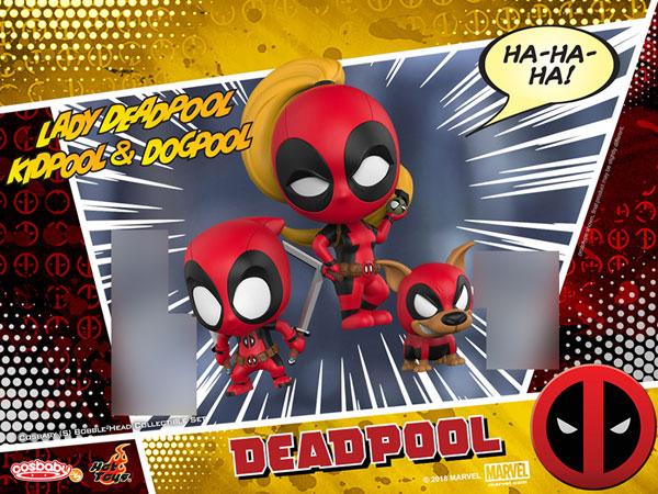 """CosBaby """"Marvel Comics"""" [Size S] Lady Deadpool & Kidpool & Dogpool (3Figure Set)(Pre-order)"""
