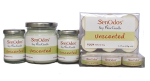 SenOdos เทียนหอม อโรม่า เทียนไขถั่วเหลืองบริสุทธิ์ Soy Candles Unscented Set