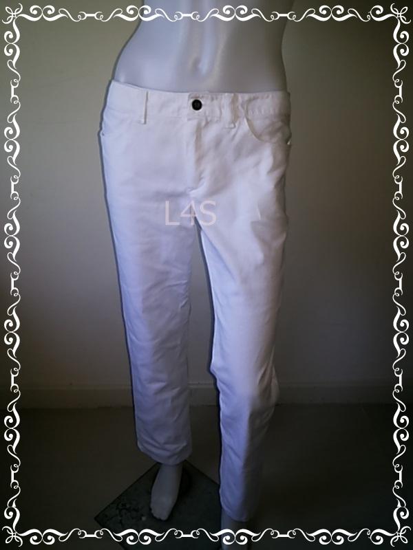 BNB1321--WE กางเกงยีนส์ มือสอง แบรนด์ สีขาว haas เอว 31-32 นิ้ว