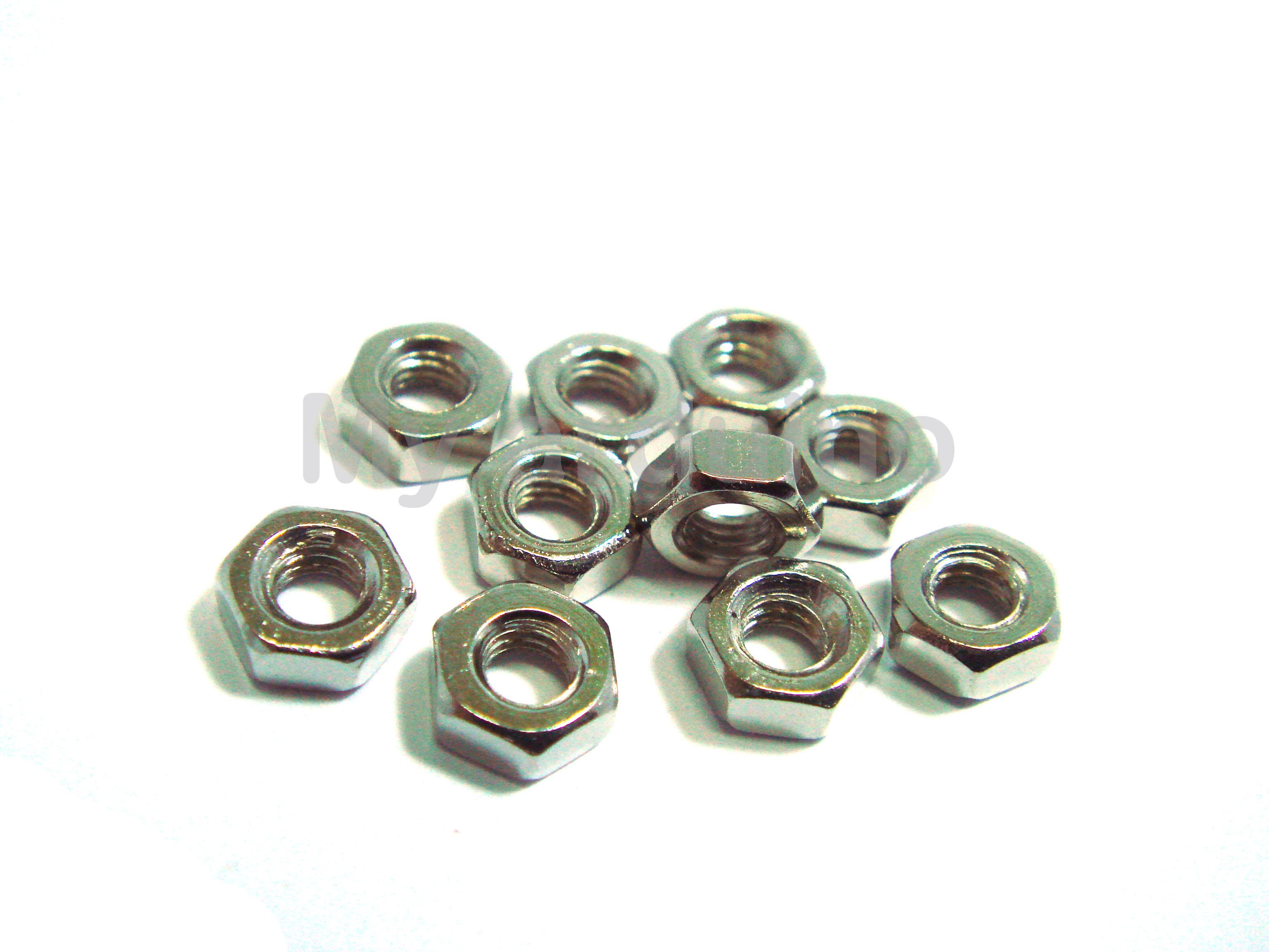 Nut M2 น็อตตัวเมีย ขนาด 2มม จำนวน 10 ชิน