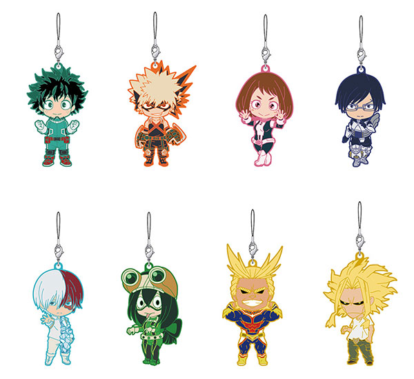 "Nendoroid Plus ""Boku no Hero Academia"" Trading Rubber Strap 8Pack BOX(Pre-order)"