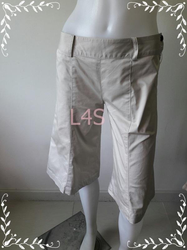 TR0062-กางเกงขาสั้น สีกากี SOLO/PLUS เอว 28 นิ้ว