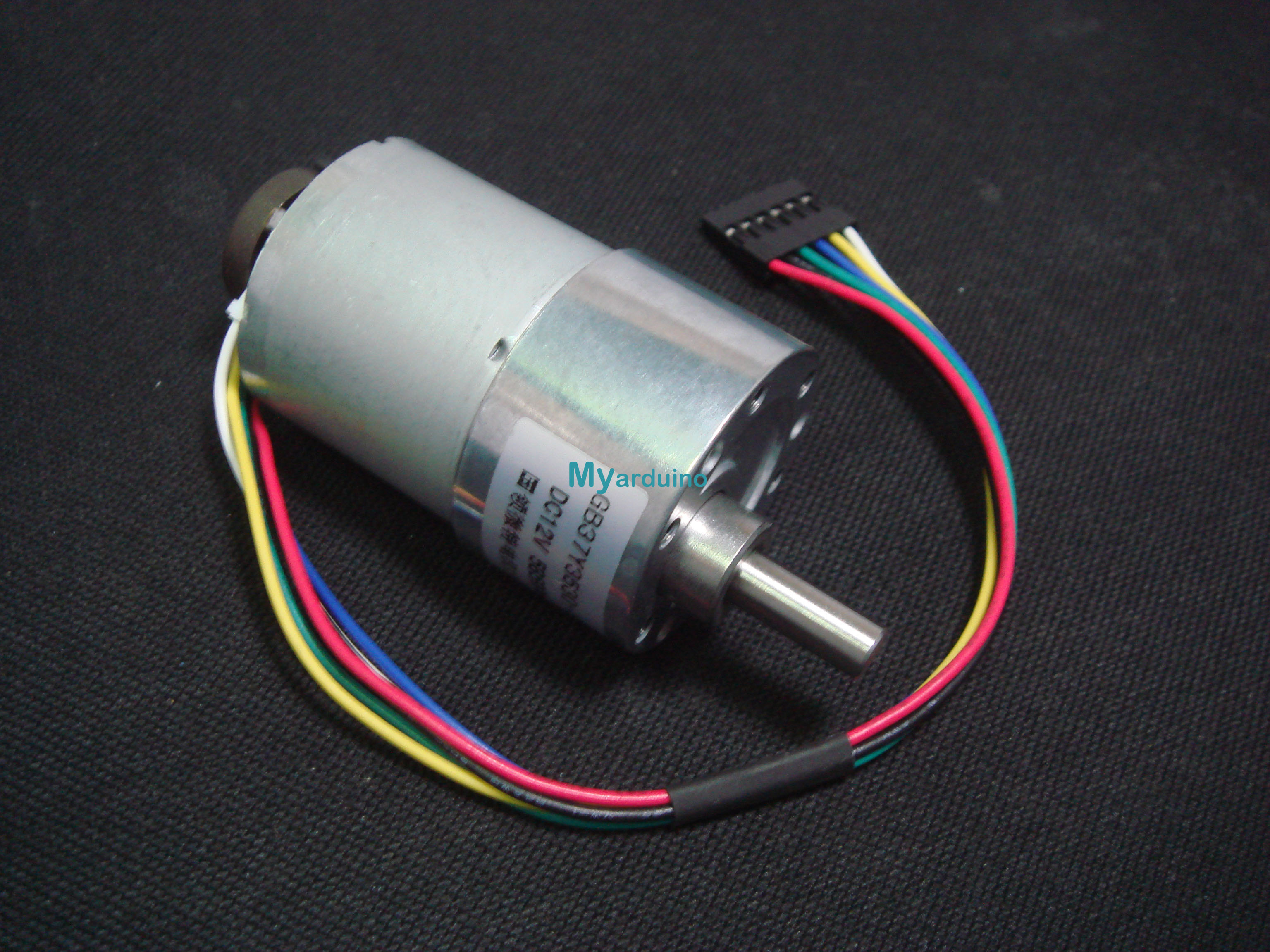 19:1 Metal Gearmotor 37Dx52L mm with 64 CPR Encoder