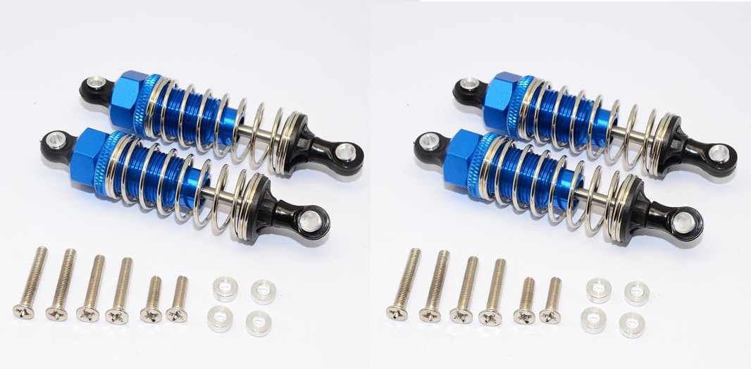 ALUMINIUM FRONT/REAR DAMPER SET WITH WASHERS & SCREWS - 4pcs.