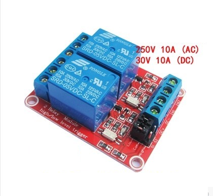 Relay Module 9V 2 Channel isolation High And Low Trigger 250V/10A