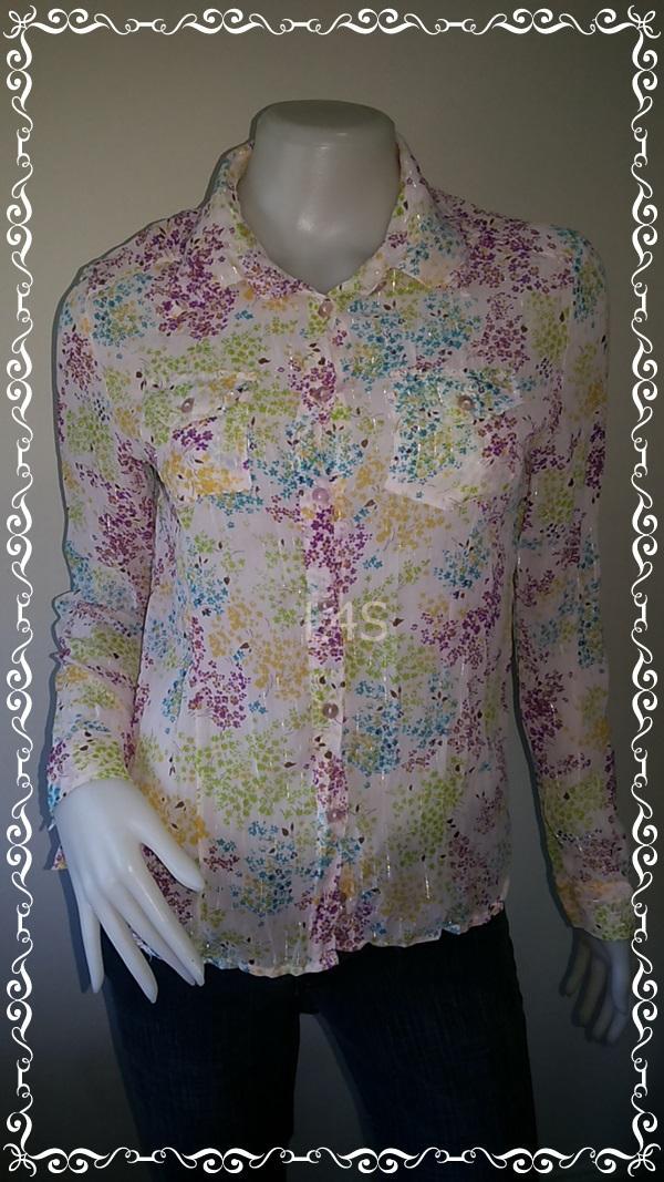 jp4221-เสื้อแฟชั่น ชีฟอง สีสดใส marna อก 34 นิ้ว