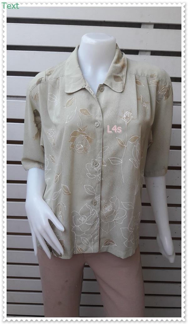 jp5039-เสื้อวินเทจ นำเข้า สีเขียวอ่อน อก 42 นิ้ว
