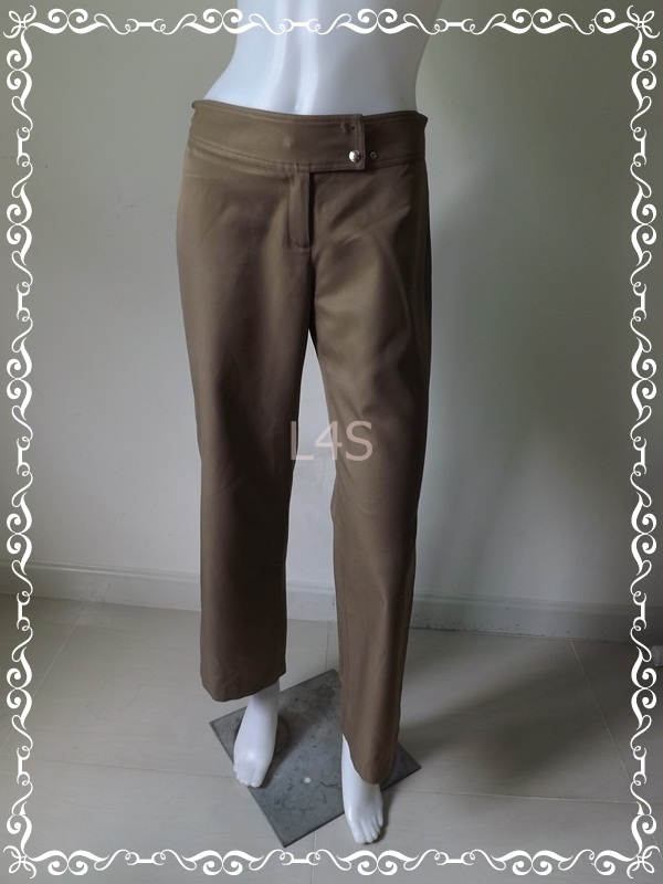 BNB1108-กางเกงผ้า สีน้ำตาล AIIZ เอว 27 นิ้ว