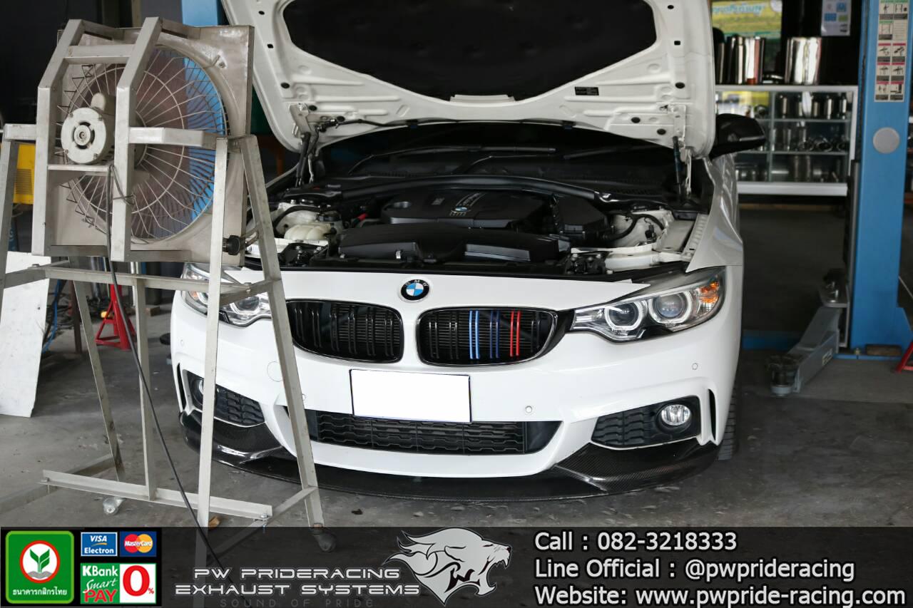 ผลงานติดตั้ง Downpipe BMW 420D F32 Diesel Engine @PW PrideRacing