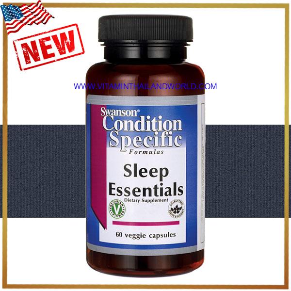Swanson Vitamins - Sleep Essentials 60 Capsules ช่วยนอนหลับ