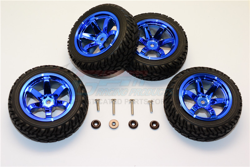ALUMINIUM 6 POLES WHEELS TIRE – 4PCS SET