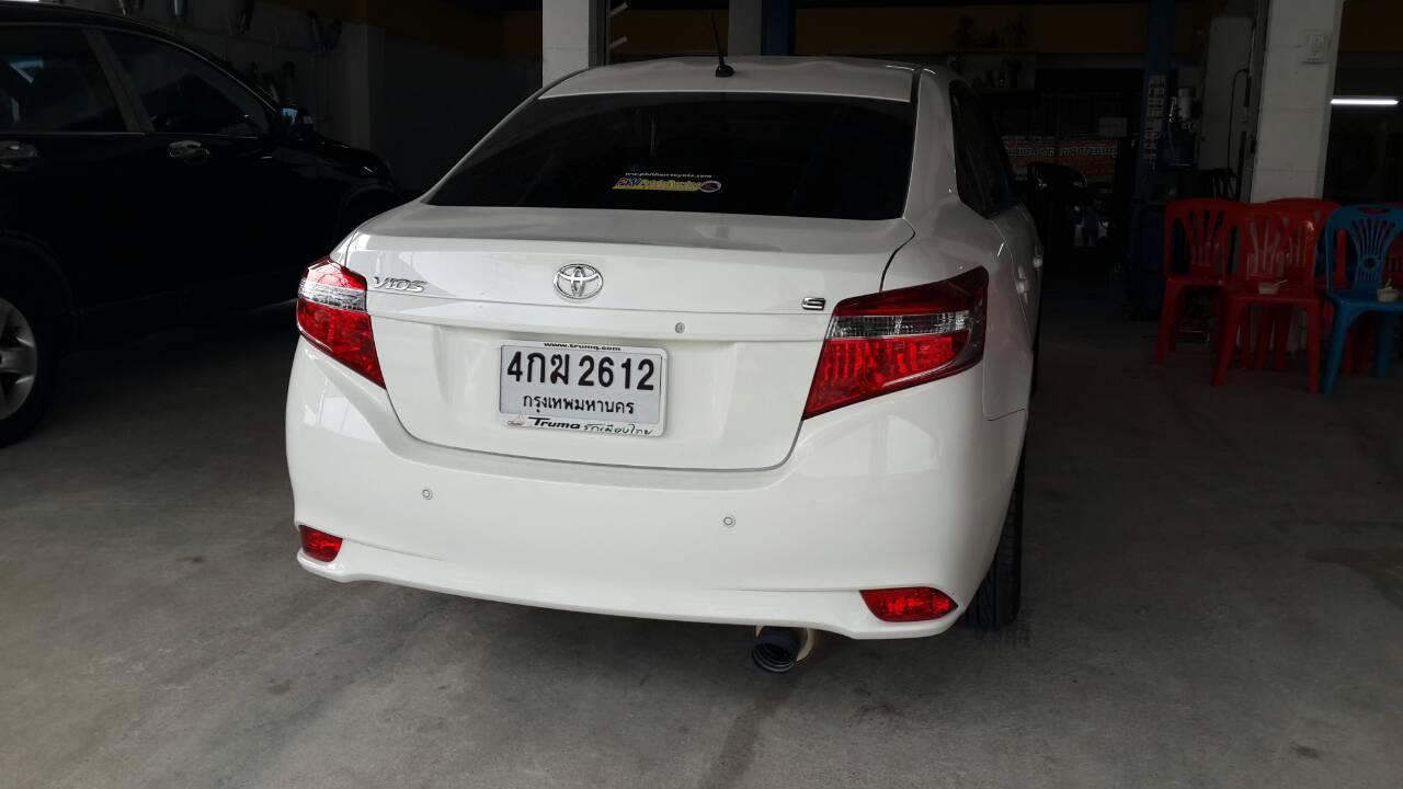 Toyota Vios ใส่ ท่อJs ปากไทเทเนียมแท้ เสียงทุ้มๆ