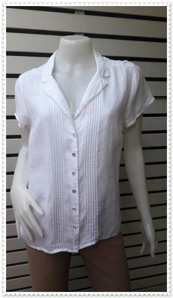 เสื้อเชิ้ตแฟชัน แบรนด์ สีขาว H&M อก 38 นิ้ว