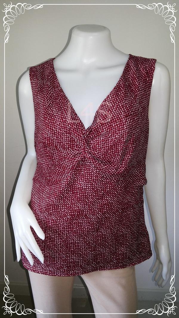 BN3623--WE เสื้อแฟชั่น นำเข้า แบรนด์ สีแดงลาย ANN TAYLOR LOFT อก 36 นิ้ว
