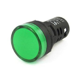 หลอดไฟสัญญาณ LED สีเขียว ขนาด 22 มม Light Indicator Signal Pilot Lamp AC/DC 12V