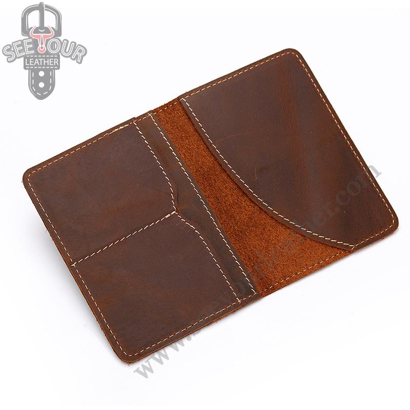PS-4016 กระเป๋าใส่พาสปอร์ต หนังนูบัค สีน้ำตาลเข้ม