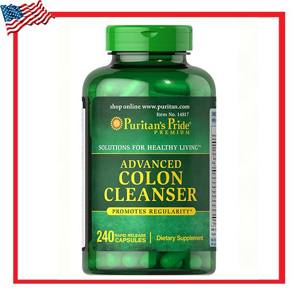 Advanced Colon Cleanser / 240 Capsules Puritan's Pride ดีท็อกลำไส้