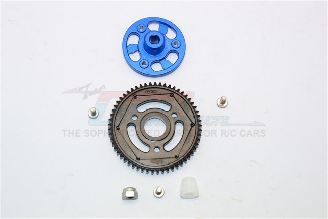 ALUMINIUM SPUR GEAR ADAPTER+STEEL GEAR 57T - 1SET