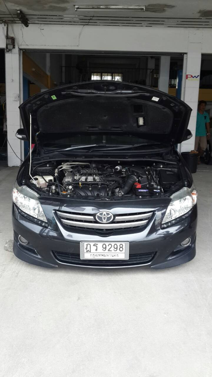 Toyota Altis ใส่ท่อ Js ปากไทเทเนียมแท้