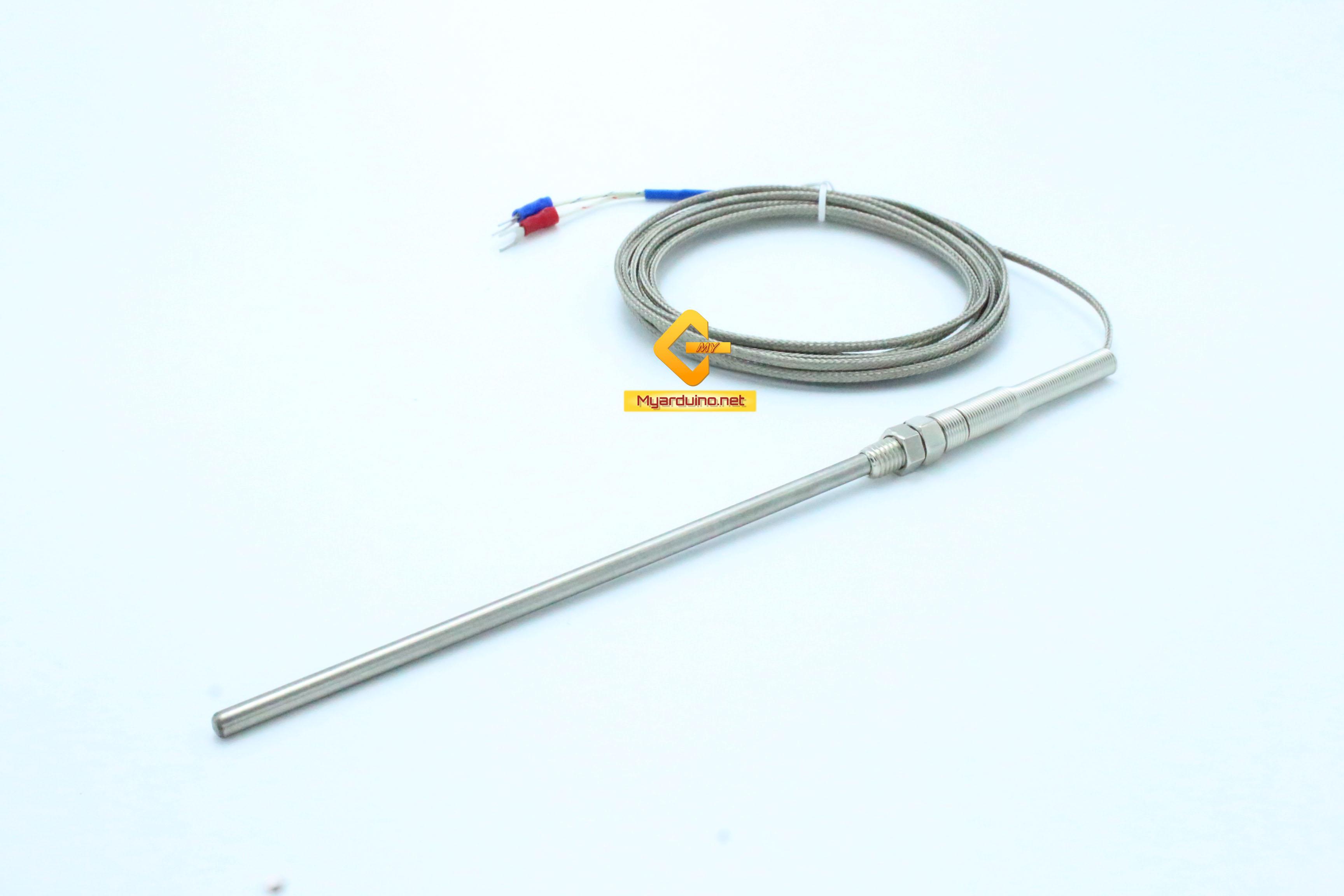 Thermocouple เซ็นเซอร์วัดอุณหภูมิ K-Type 0-800C ตัวเซนเซอร์ ยาว 150mm สายยาว 3m