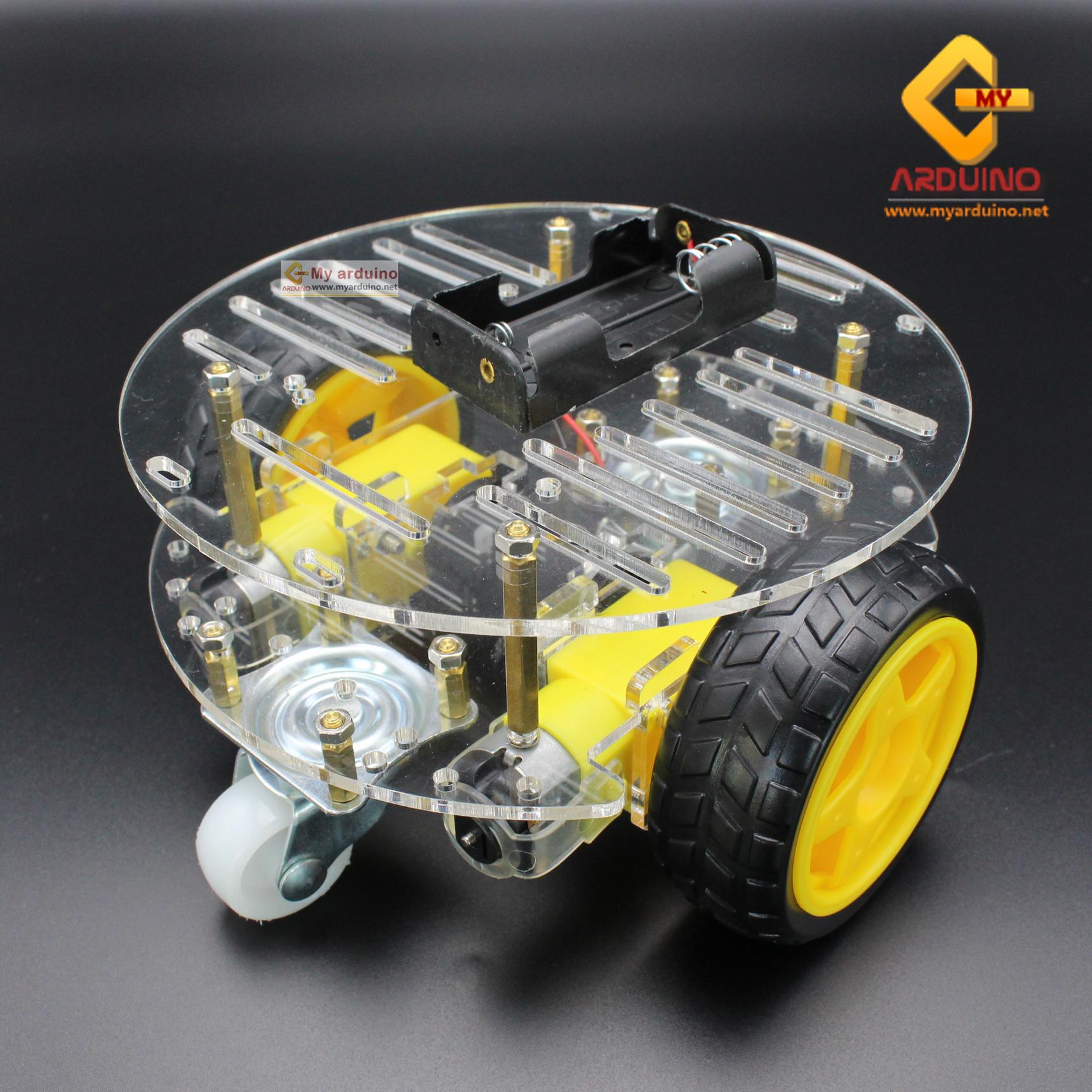 โครงรถ หุ่นยนต์ Smart Car Chassis 2 ชั้น