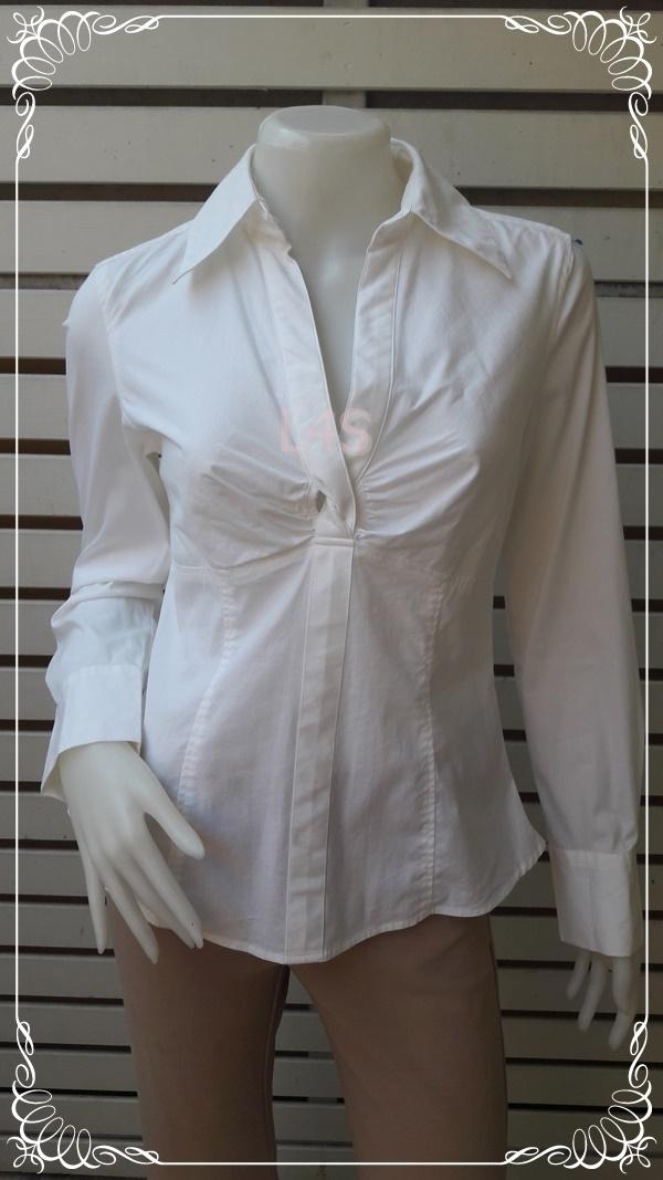 เสื้อเชิ้ต นำเข้า แบรนด์เนม สีขาว ANN TAYLOR LOFT อก 35-36 นิ้ว