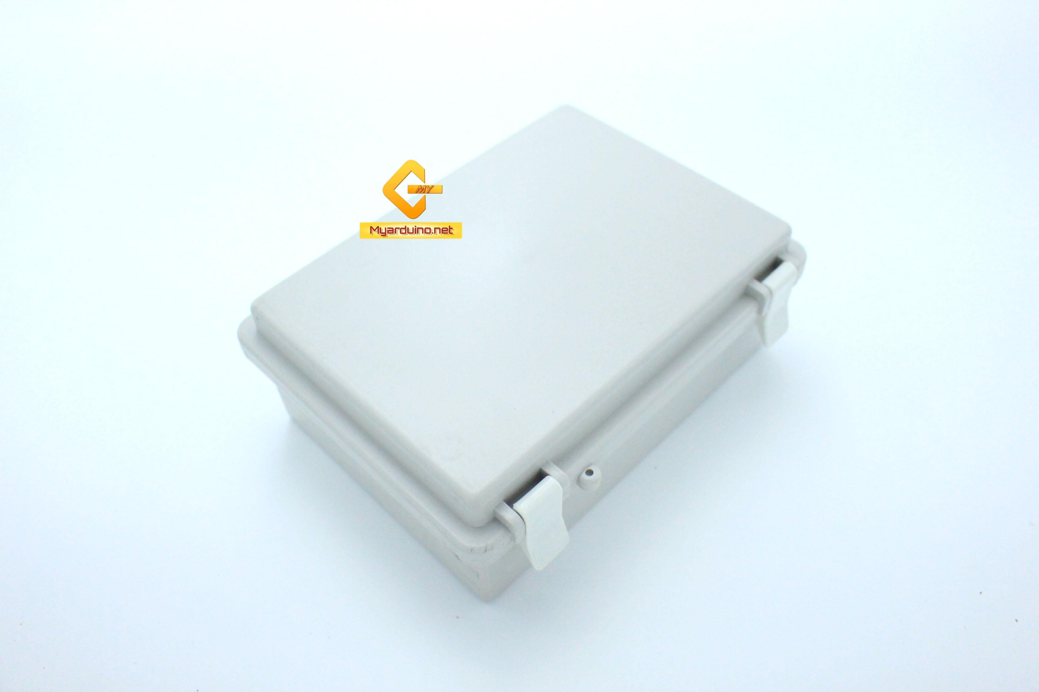 กล่องอิเล็กทรอนิกส์ อเนกประสงค์ กันน้ำ สีเทา พร้อมฝาปิด 190*140*72 mm