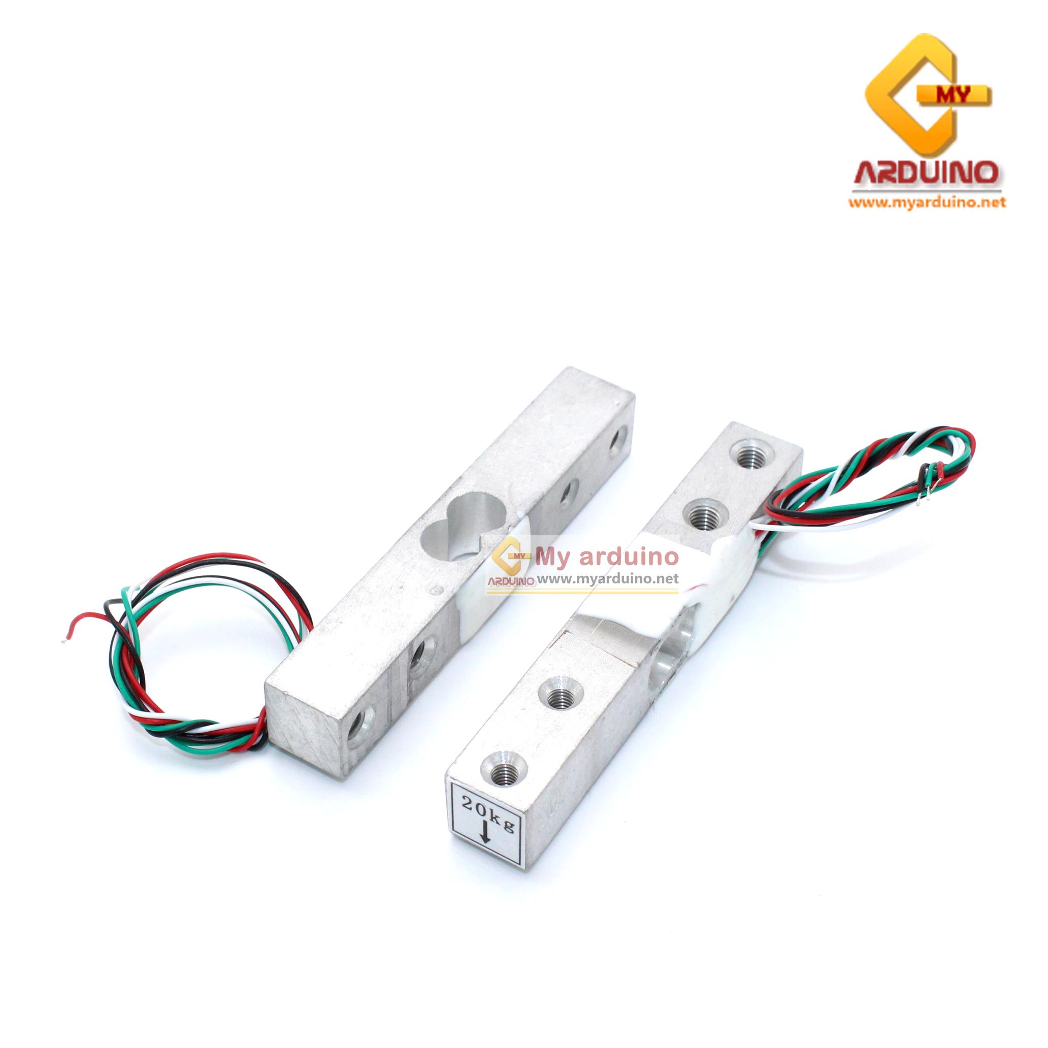 Load Cell Weight Sensor 20 Kg เซนเซอร์วัดน้ำหนัก Load Cell วัดได้สูงสุด 20KG