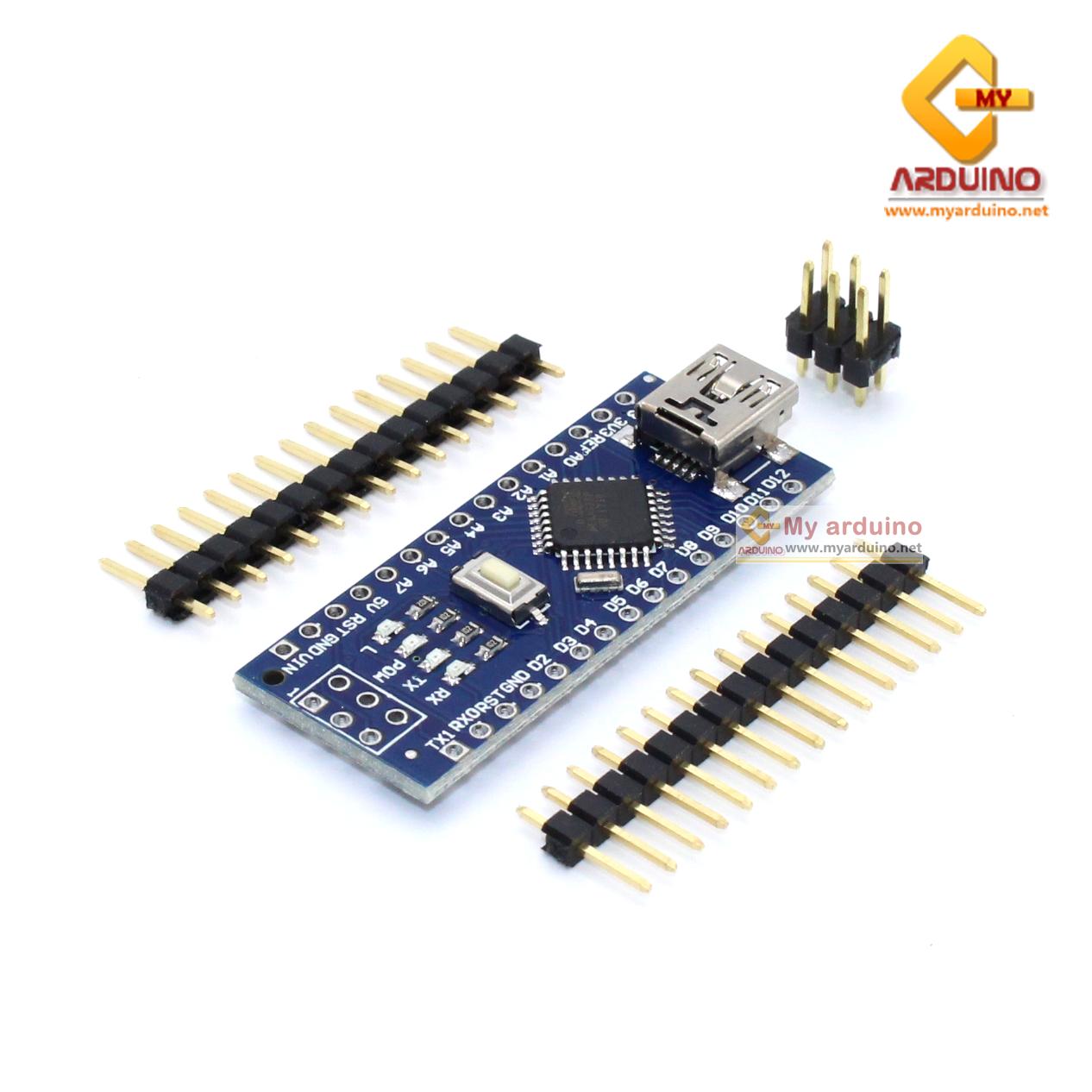 Arduino Nano 3.0 Mini USB รุ่นใหม่ชิฟ CH340G แบบยังไม่บัดกรีขา (ไม่มีสาย Mini USB)