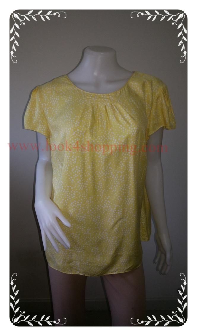 """jp3372-เสื้อแฟชั่น สวยๆ นำเข้า สีเหลือง Boden""""อก free-44 นิ้ว"""""""