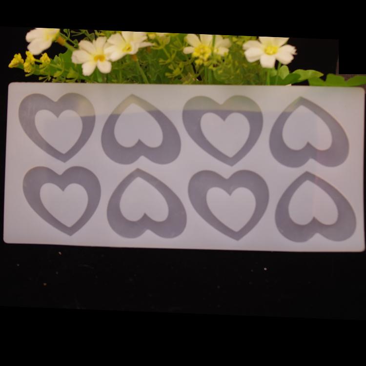 แม่พิมพ์ซิลิโคนทำช็อกโกแลตตกแต่ง กรอบหัวใจ