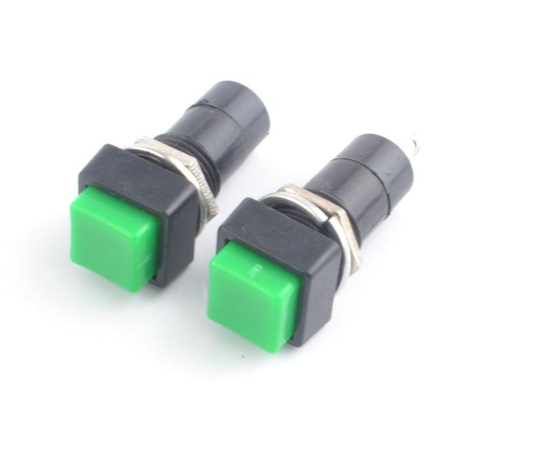 สวิทช์ กดติด กดดับ สีเขียว PBS 12mm 250VAC