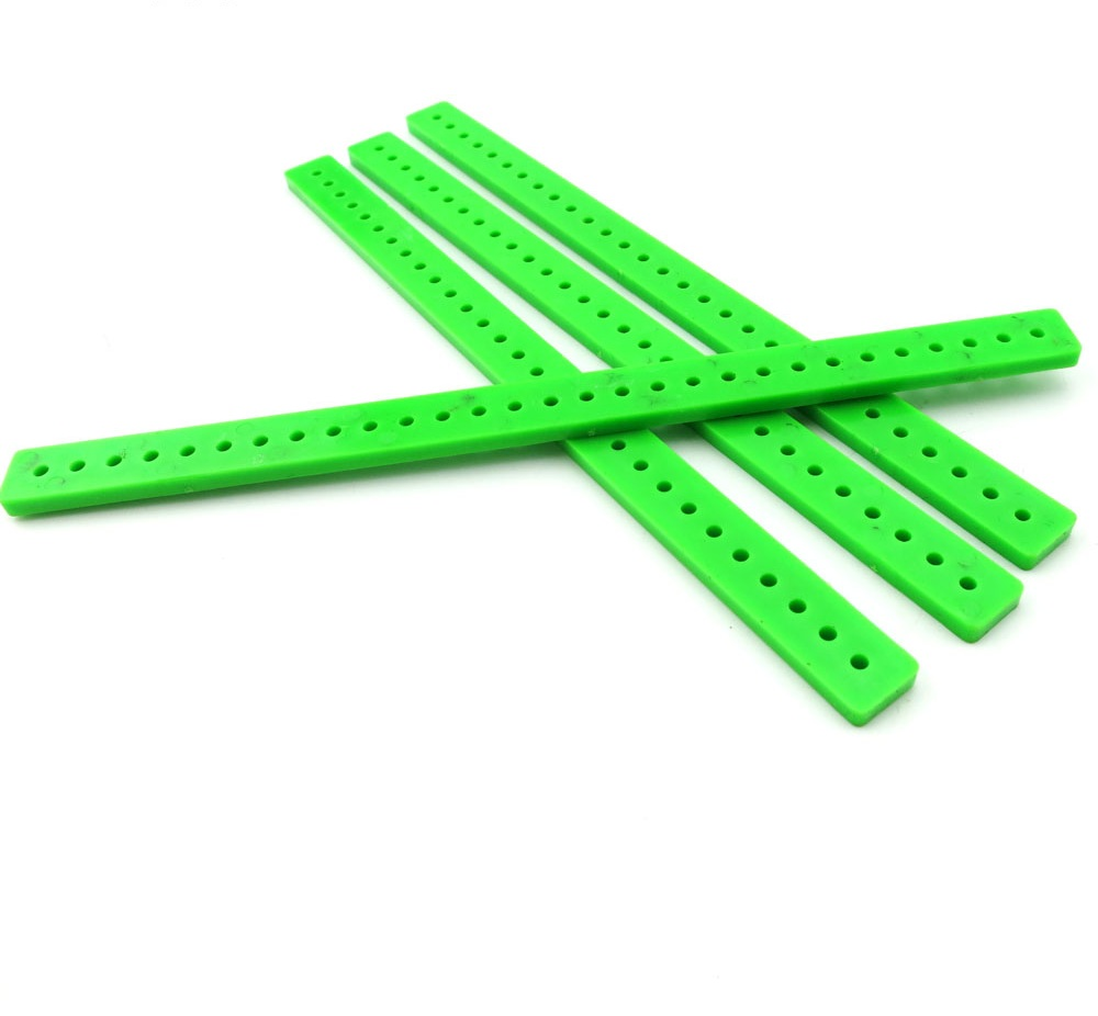 แท่งพลาสติก เจาะรู สีเขียว ขนาด 10*150mm