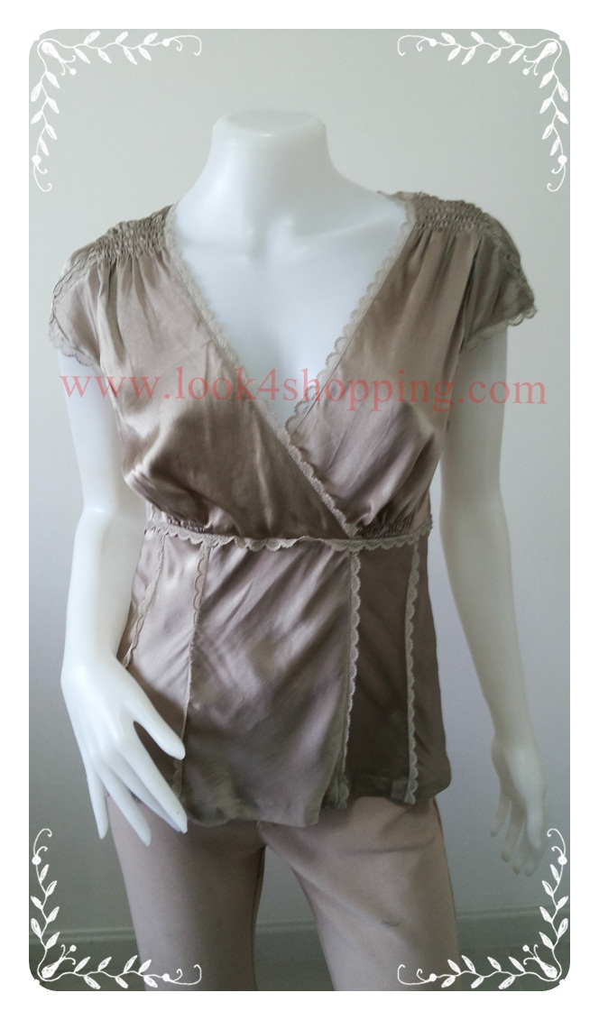 jp2953--เสื้อแฟชั่น silk สวยๆ BANDOLIND อก 33-36 นิ้ว