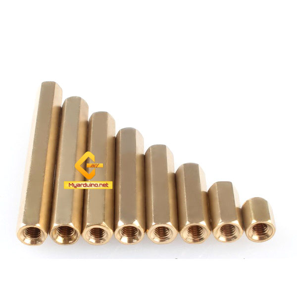 น็อตทองเหลืองM3 25mm จำนวน 5 ชิ้น