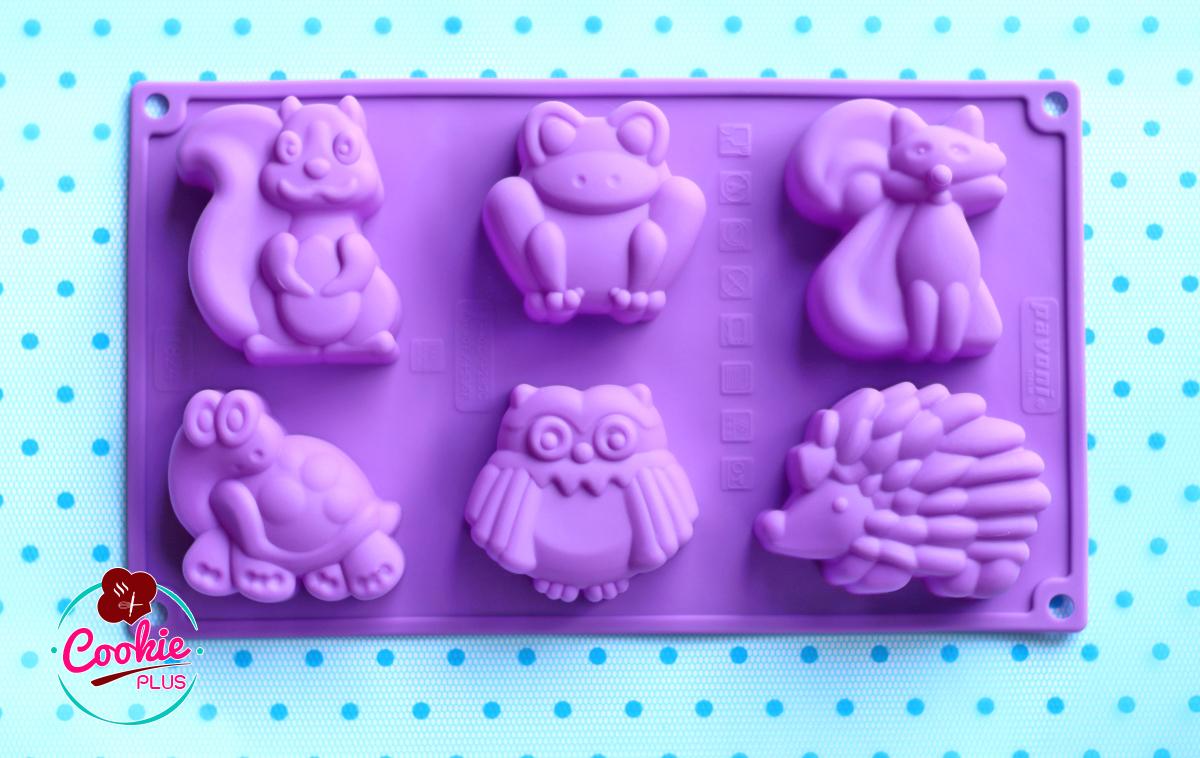 แม่พิมพ์ซิลิโคนทำขนม รวมลาย กระรอก เต่า เม่น และเพื่อน ๆ