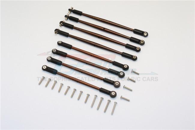 SPRING STEEL ANTI-CLOCKWISE THREAD STEERING TIE ROD - 8PCS SET (FOR 1/10 E-REVO, SUMMIT, REVO, E-REVO 3.3, 1/10 ELECTRIC AND NITRO CAR)