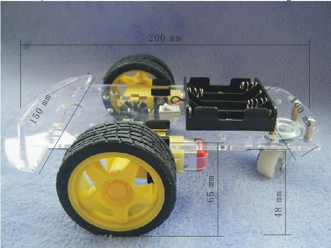 โครงรถ หุ่นยนต์ Smart car 2WD Robot Car