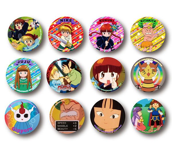 Mahojin Guru Guru - Trading Can Badge 12Pack BOX(Pre-order)