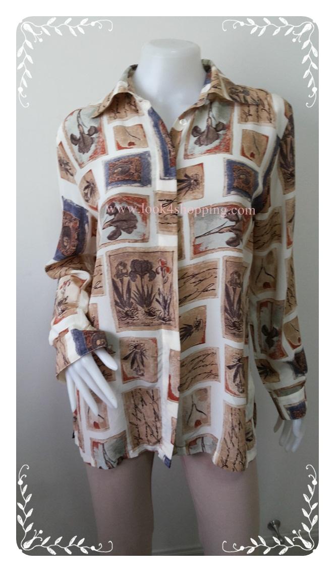 jp2679-เสื้อผ้ามือสอง silk สวยๆ JESSICA HOLBROOK อก 39 นิ้ว