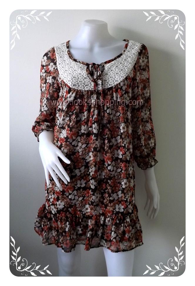 """Dress0365--เดรสแฟชั่น นำเข้า สวยๆ """"อก 34 นิ้ว"""""""