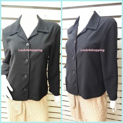 เสื้อคลุม มือสอง นำเข้า สีดำ BRIGGS อก 38 นิ้ว