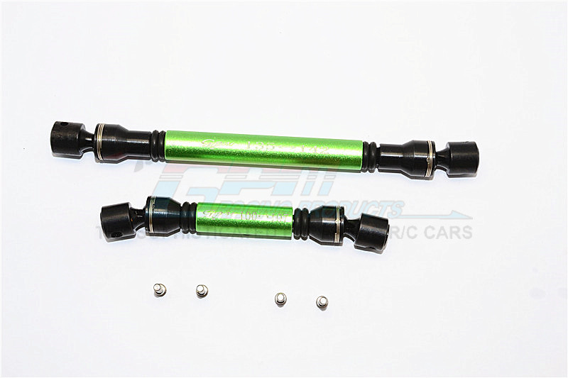 STEEL+ALUMINIUM FRONT+REAR CENTER SHAFT - 1SET