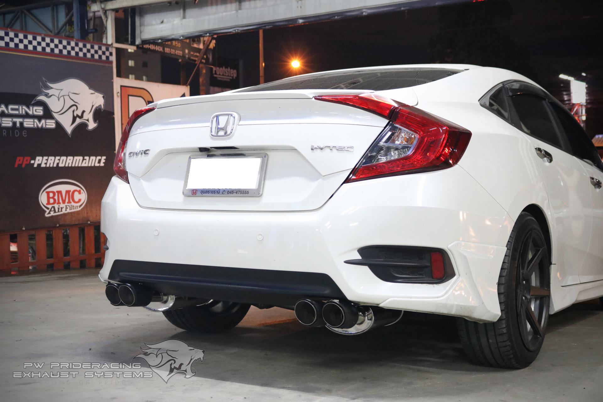 ชุดท่อไอเสีย Honda CIVIC 2016 by PW PrideRacing